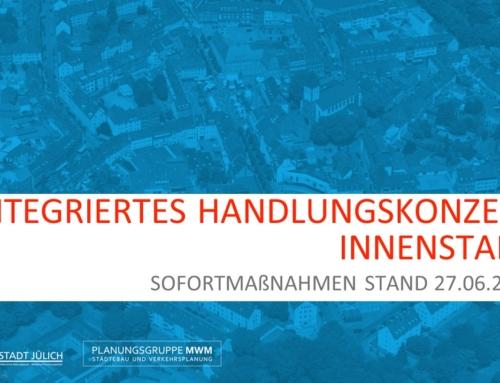 Sofortmaßnahmen im Rahmen des InHK Jülich – Stand 27.06.2019